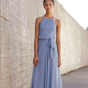 Blue Nouvelle Maxi Bridesmaids dress